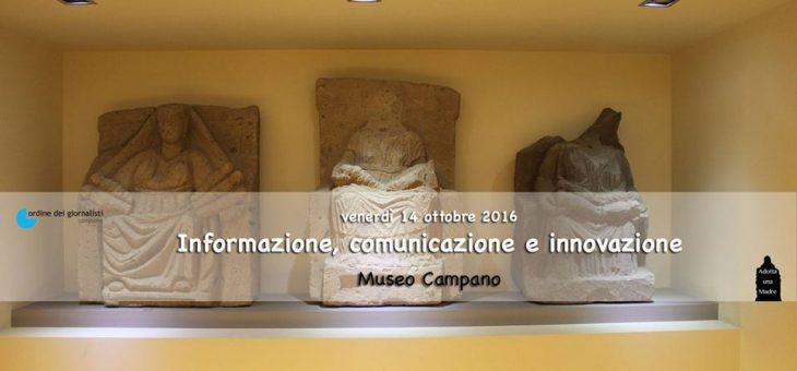 Cento giornalisti al Museo Campano per un corso di formazione su Informazione, comunicazione e innovazione